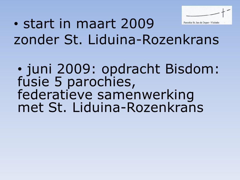 • juni 2009: opdracht Bisdom: fusie 5 parochies, federatieve samenwerking met St.