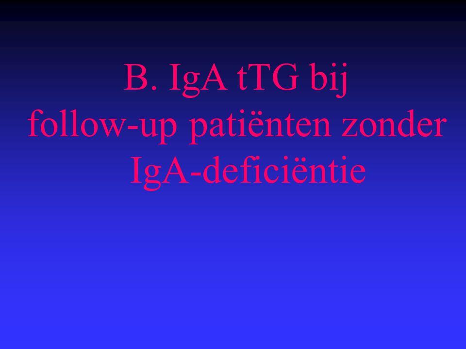 B. IgA tTG bij follow-up patiënten zonder IgA-deficiëntie