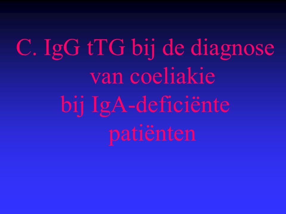 C. IgG tTG bij de diagnose van coeliakie bij IgA-deficiënte patiënten