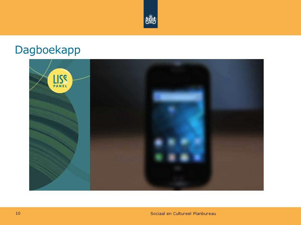 Dagboekapp Sociaal en Cultureel Planbureau 10
