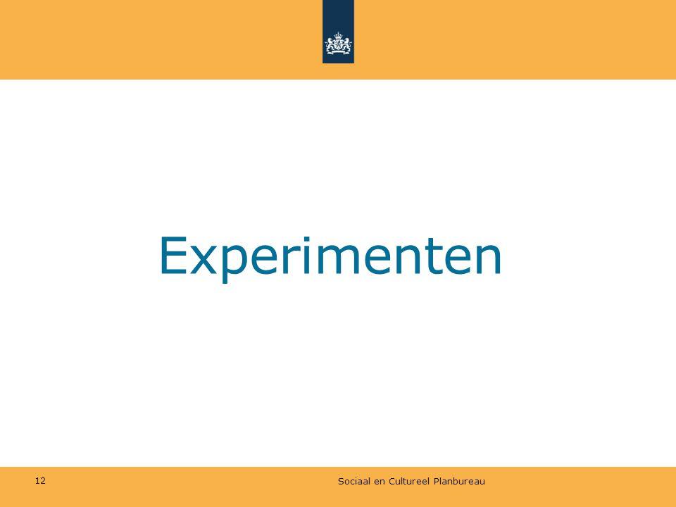 Experimenten Sociaal en Cultureel Planbureau 12