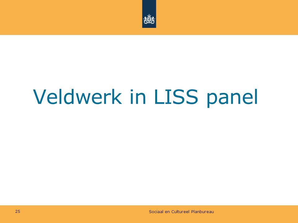 Veldwerk in LISS panel Sociaal en Cultureel Planbureau 25