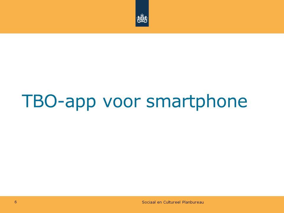 TBO-app voor smartphone Sociaal en Cultureel Planbureau 6