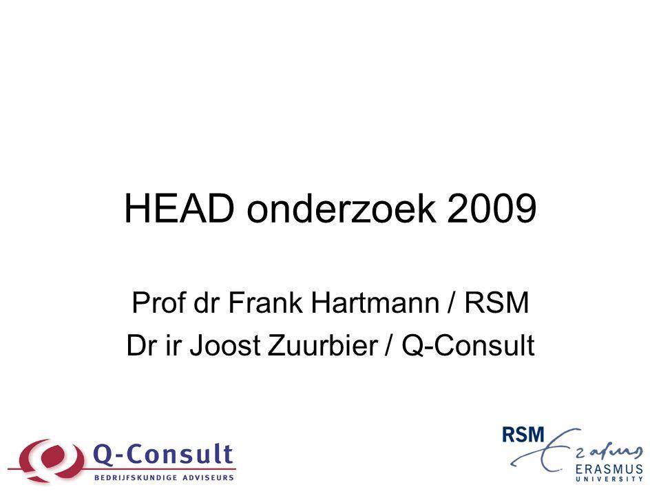 HEAD onderzoek 2009 Prof dr Frank Hartmann / RSM Dr ir Joost Zuurbier / Q-Consult