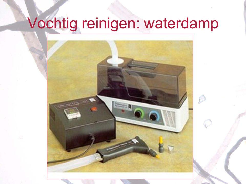 Vochtig reinigen: waterdamp