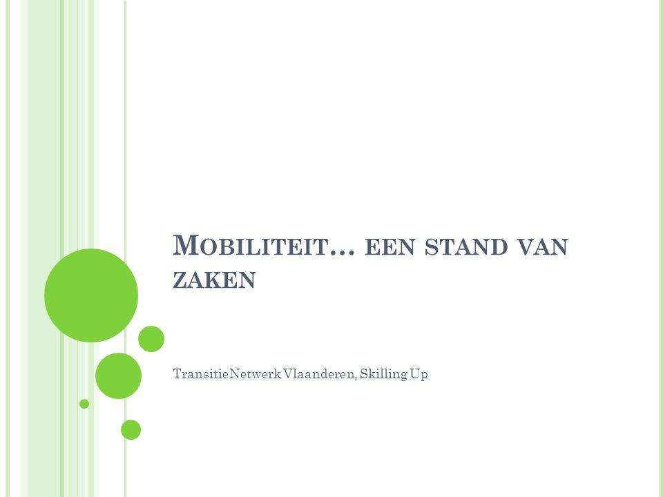 M OBILITEIT … EEN STAND VAN ZAKEN TransitieNetwerk Vlaanderen, Skilling Up