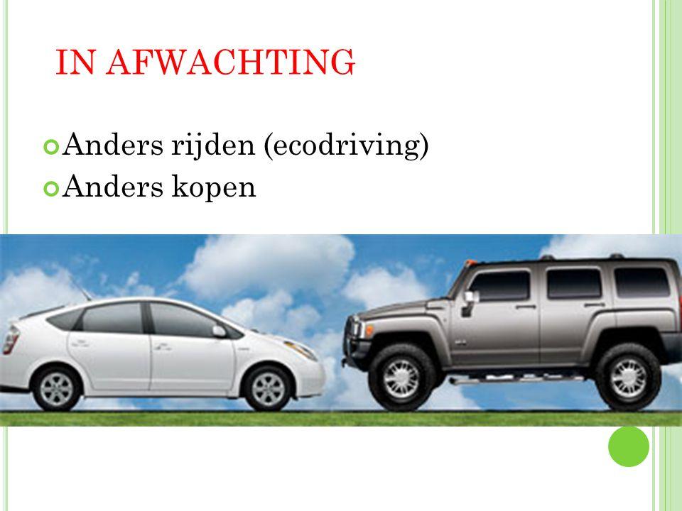 Anders rijden (ecodriving) Anders kopen IN AFWACHTING