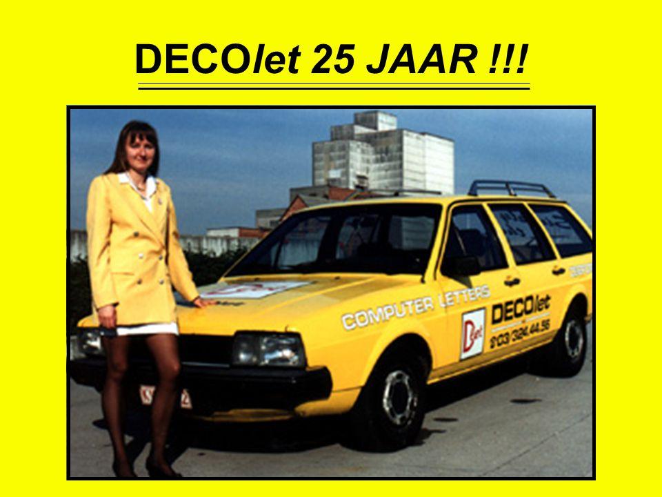 DECOlet 25 JAAR !!!