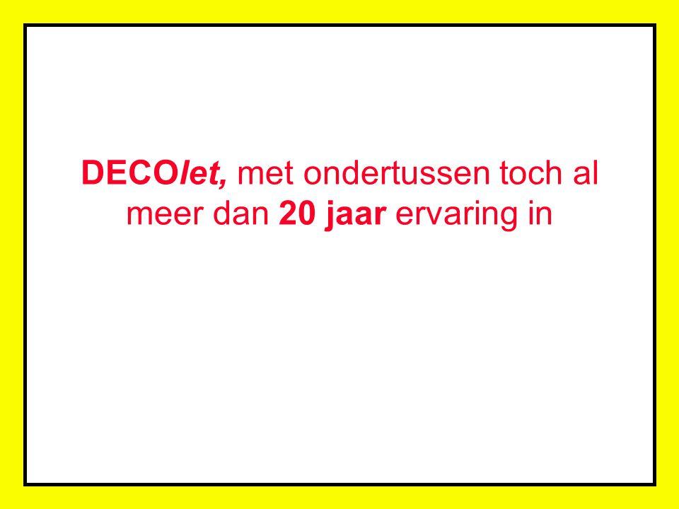 DECOlet, met ondertussen toch al meer dan 20 jaar ervaring in belettering, was één van de pioniers die beroep deed op deze, voor die tijd, zeer geavanceerde technieken...