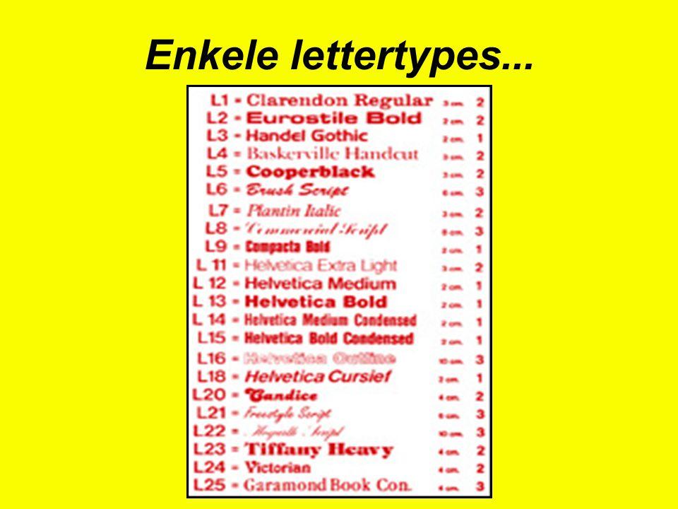 Enkele lettertypes...
