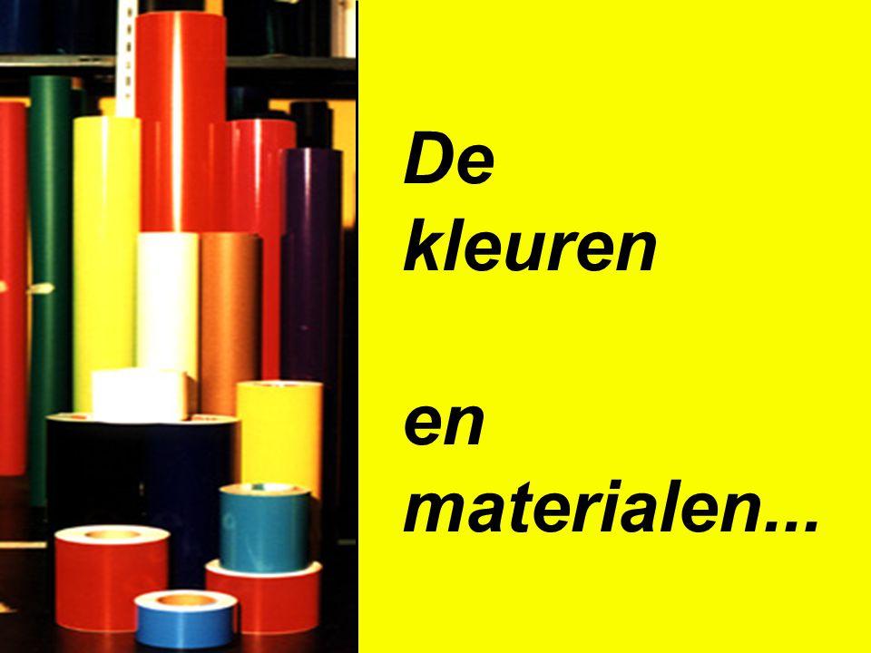 De kleuren en materialen...