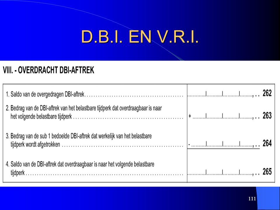 111 D.B.I. EN V.R.I.
