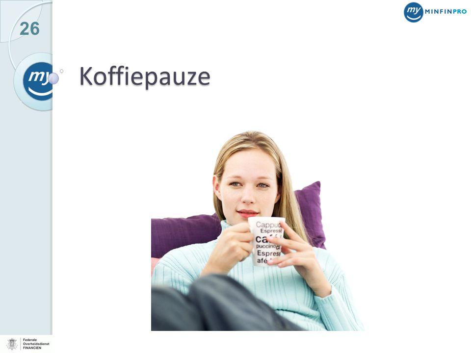 26 Koffiepauze
