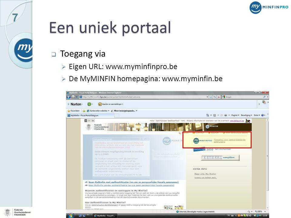 18 Persoonlijke informatie  MyMINFIN-Pro geeft u toegang tot volgende documenten: