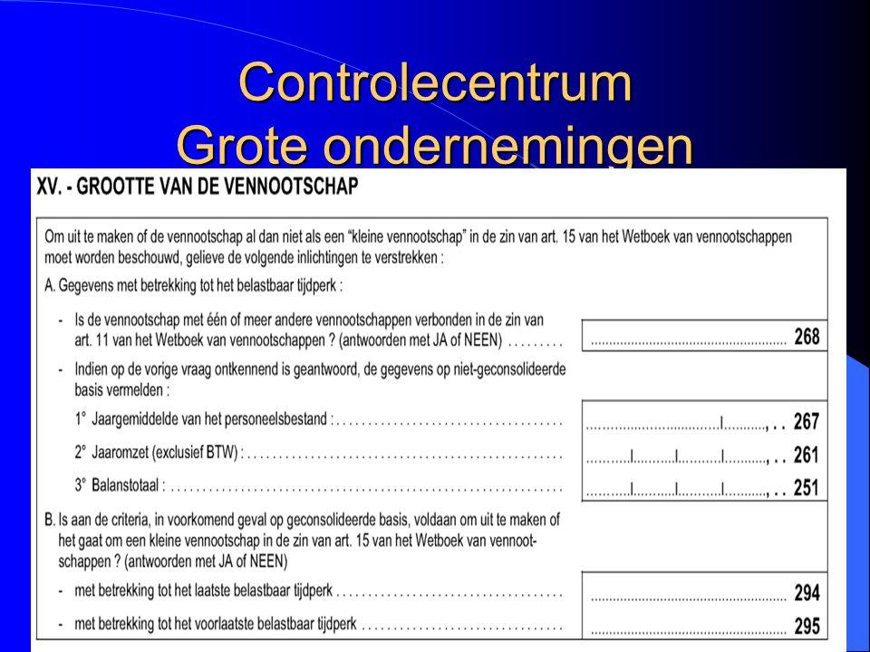 76 Controlecentrum Grote ondernemingen
