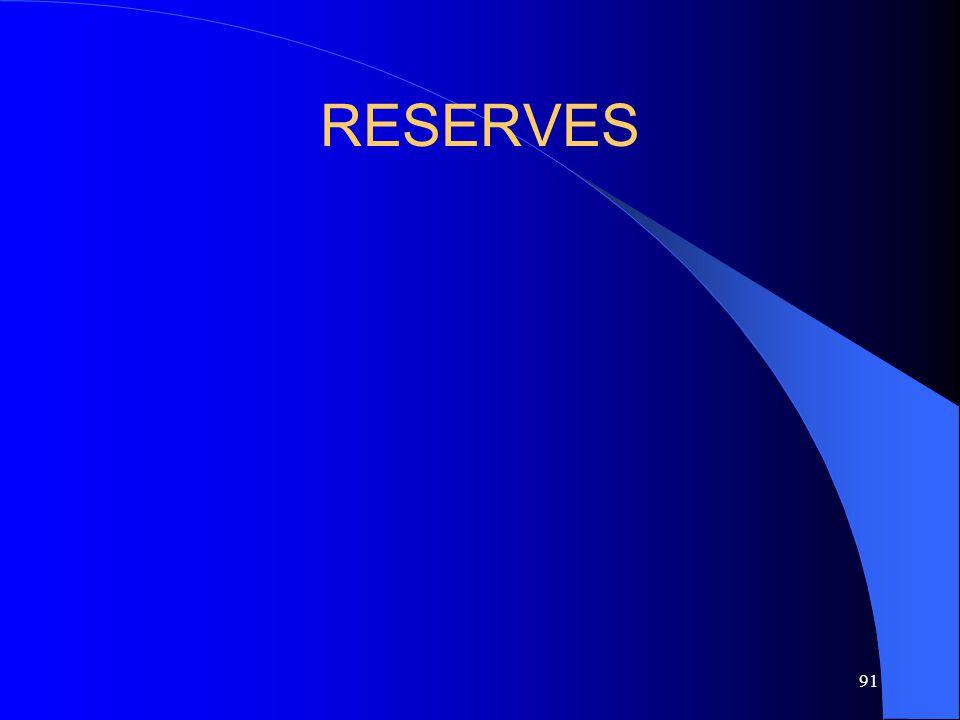 91 RESERVES