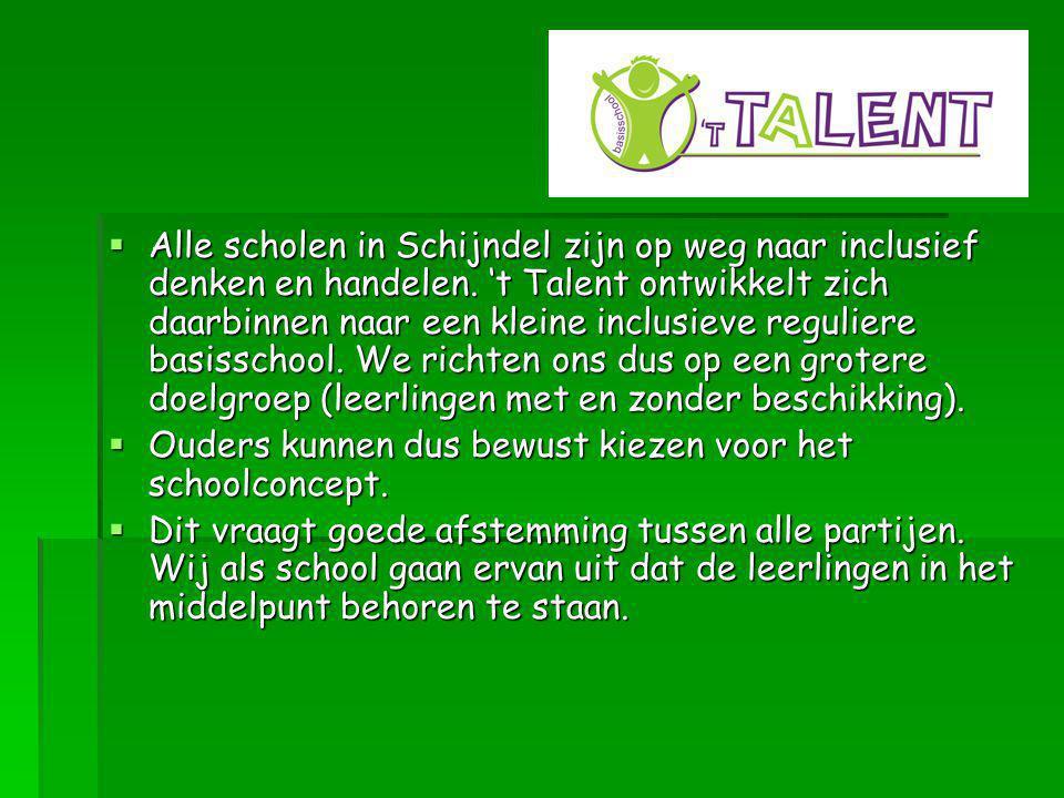  Alle scholen in Schijndel zijn op weg naar inclusief denken en handelen.