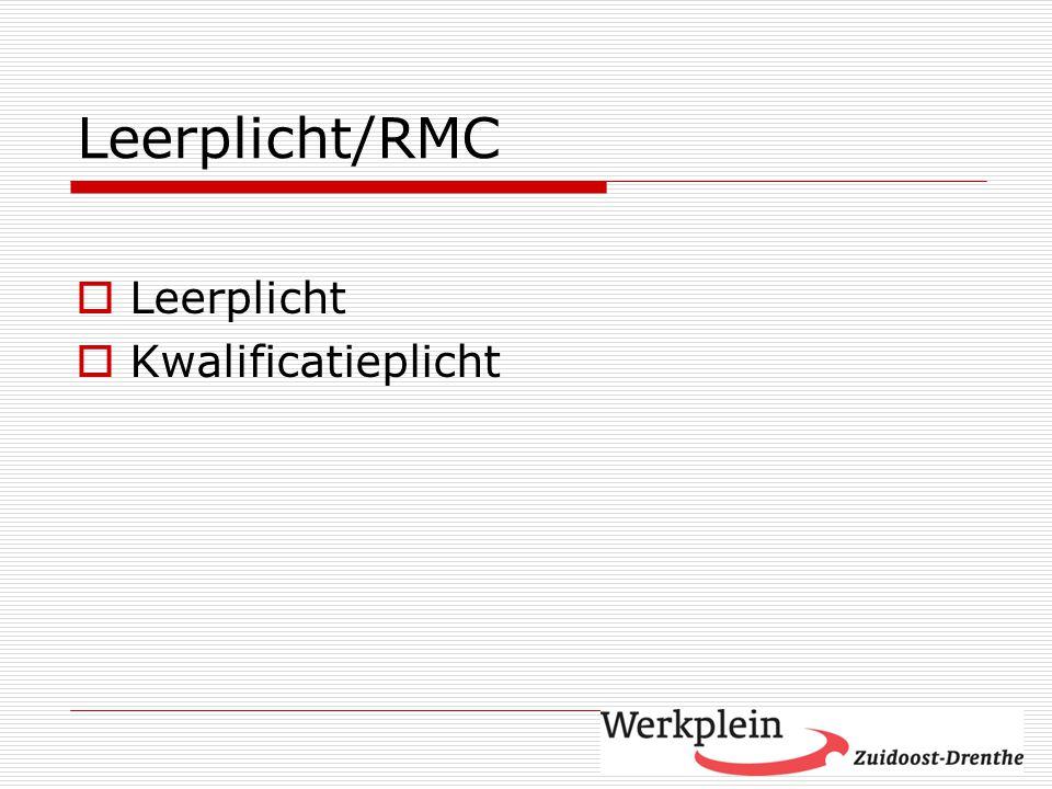 Leerplicht/RMC  Leerplicht  Kwalificatieplicht