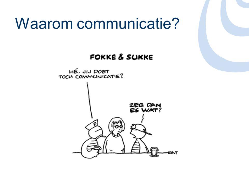 Inhoud •Doelstellingen •Doelgroepen •Communicatiemiddelen •Meer informatie •Vragen?