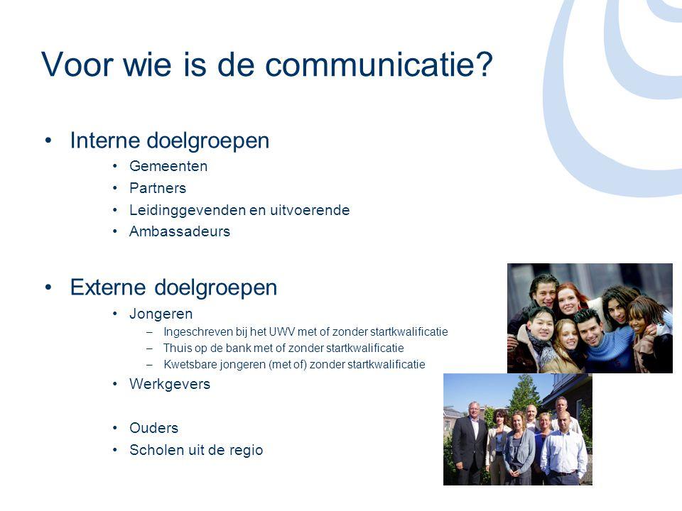 Voor wie is de communicatie.