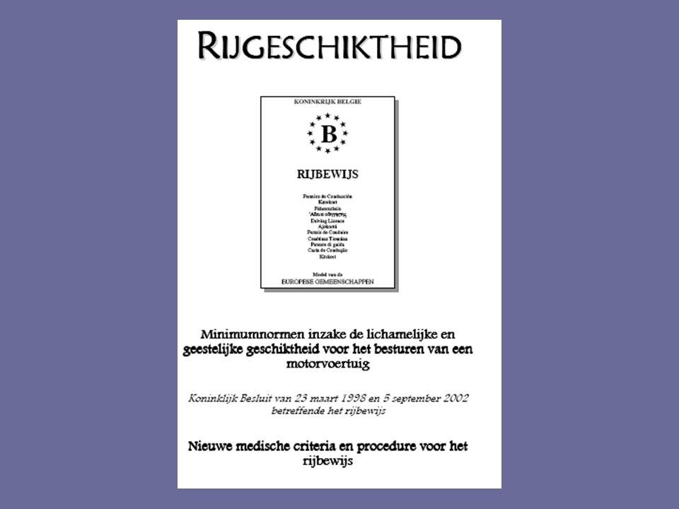 Epilepsie en rijgeschiktheid: wetgeving  3.1.4.