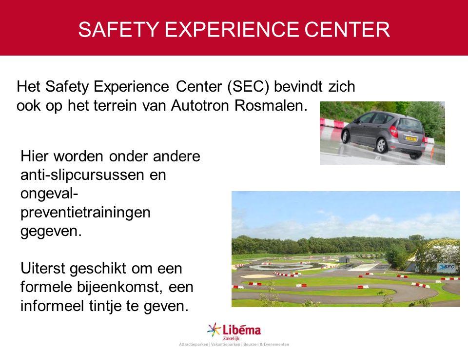 SAFETY EXPERIENCE CENTER Het Safety Experience Center (SEC) bevindt zich ook op het terrein van Autotron Rosmalen. Hier worden onder andere anti-slipc