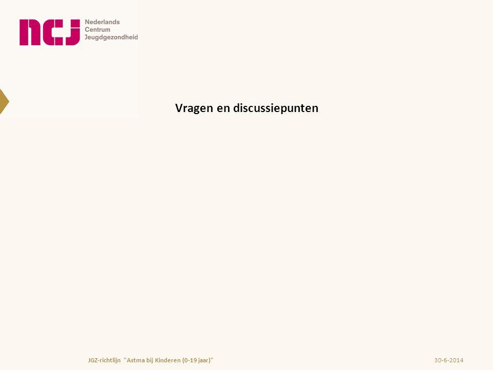 Vragen en discussiepunten 30-6-2014JGZ-richtlijn