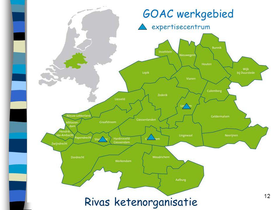 12 GOAC werkgebied expertisecentrum Rivas ketenorganisatie