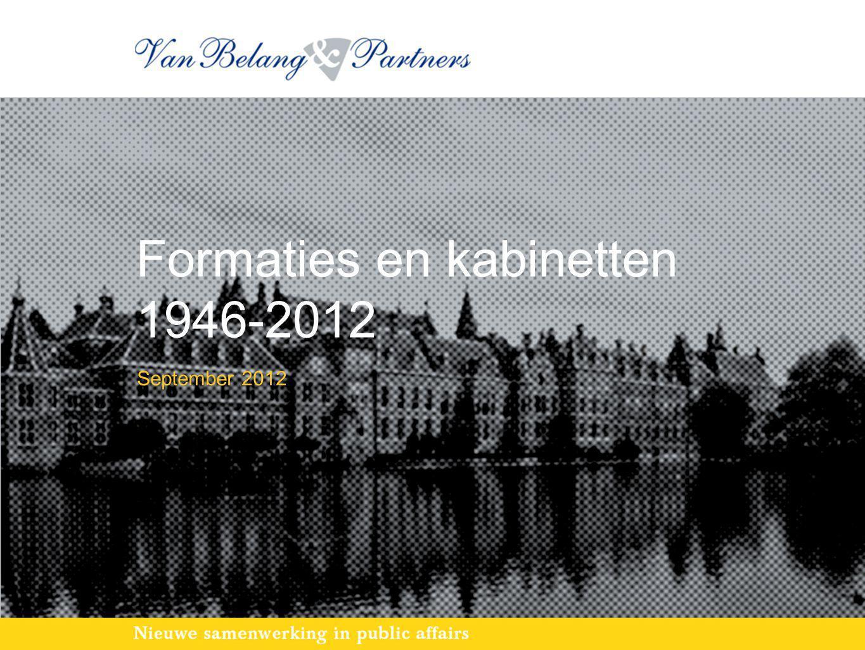 Formaties en kabinetten 1946-2012 September 2012