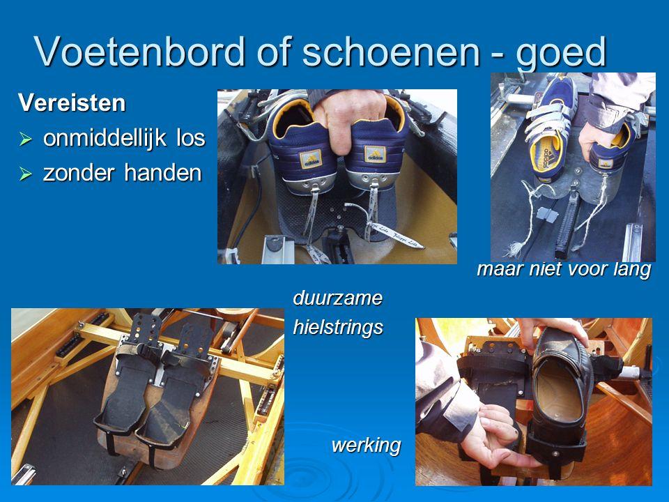 Voetenbord of schoenen - goed Vereisten  onmiddellijk los  zonder handen gloedje nieuw zit wel goed, gloedje nieuw zit wel goed, maar niet voor lang maar niet voor lang duurzame duurzame hielstrings hielstrings werking werking