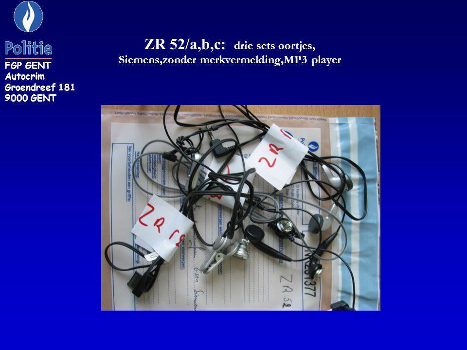 D 8: GSM auto-adaptor. FGP GENT Autocrim Groendreef 181 9000 GENT