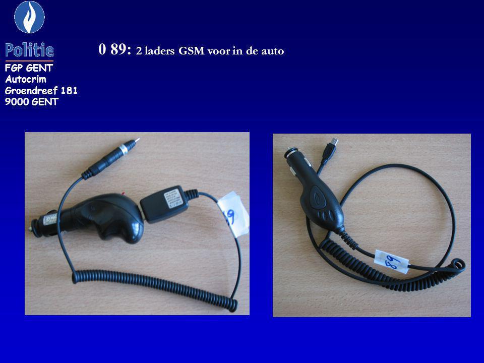 KON 14: USB verbindingskabel (wit) voor een IPOD APPLE. FGP GENT Autocrim Groendreef 181 9000 GENT