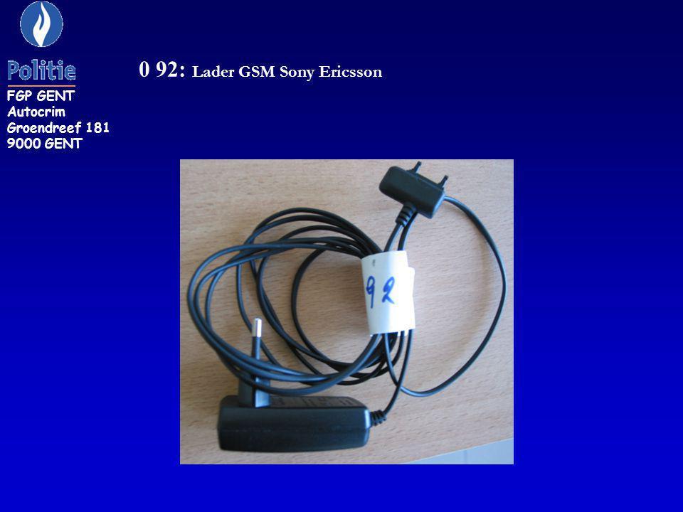 CH 29: Adaptor SAMSUNG. FGP GENT Autocrim Groendreef 181 9000 GENT