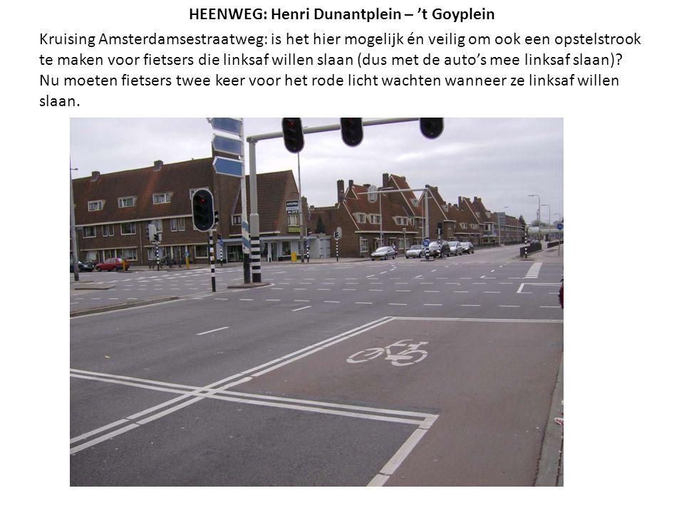 Kruising Amsterdamsestraatweg: is het hier mogelijk én veilig om ook een opstelstrook te maken voor fietsers die linksaf willen slaan (dus met de auto