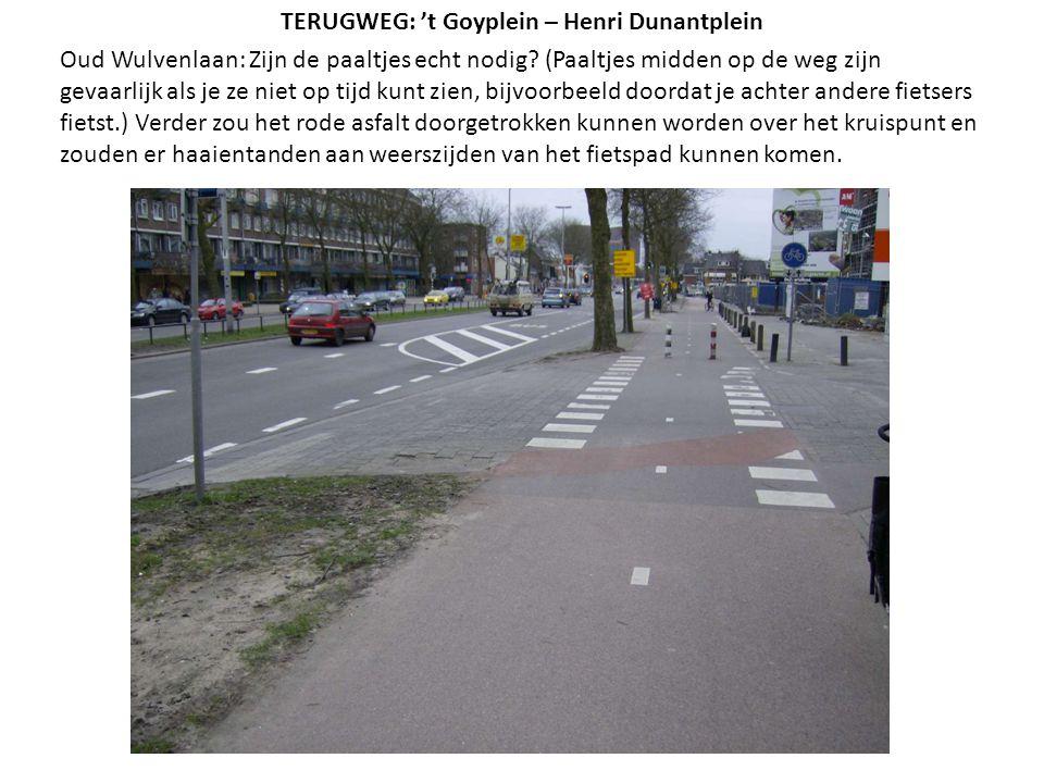 Oud Wulvenlaan: Zijn de paaltjes echt nodig? (Paaltjes midden op de weg zijn gevaarlijk als je ze niet op tijd kunt zien, bijvoorbeeld doordat je acht