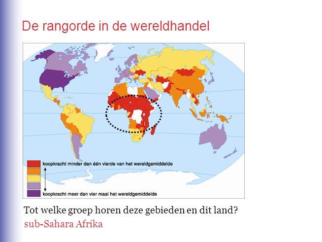De rangorde in de wereldhandel Tot welke groep horen deze steden en landen?Zuid-Korea,Taiwan, Hongkong, Singapore de Aziatische tijgers of newly industrialized countries (NIC s)