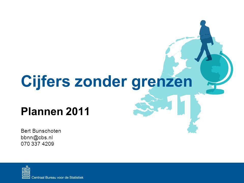 Cijfers zonder grenzen Plannen 2011 Bert Bunschoten bbnn@cbs.nl 070 337 4209