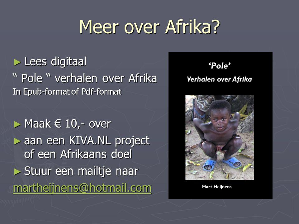 Meer over Afrika.