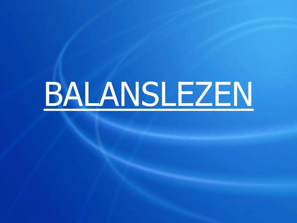 Opdracht balanslezen : balans –activa (p.