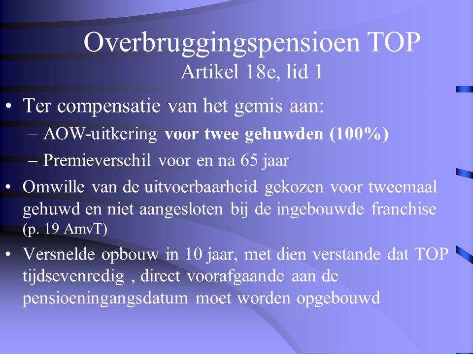 Voorkomen 100%-toets bij door- werken in beschikbare premiestelsel •Voorkomen dat men in artikel 18a, lid 5 terecht komt. Dus geen premies meer storte
