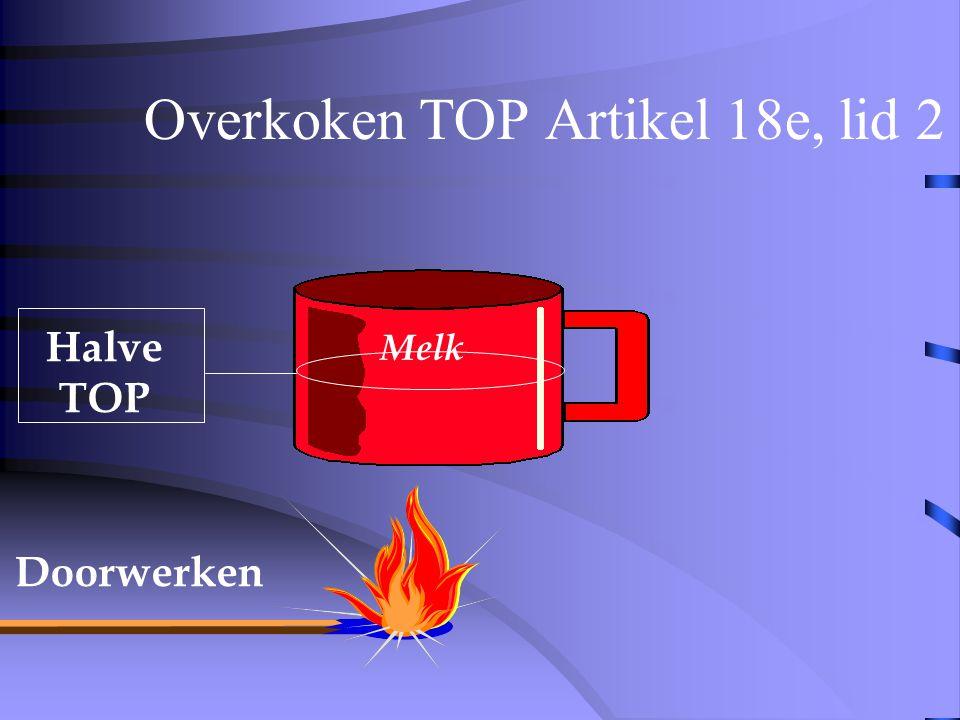 Overkoken TOP Artikel 18e, lid 2 Halve TOP Melk
