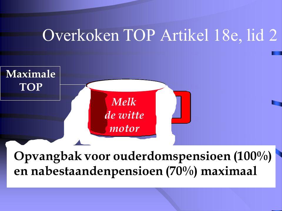 Overkoken TOP Artikel 18e, lid 2 Doorwerken Maximale TOP Melk de witte motor
