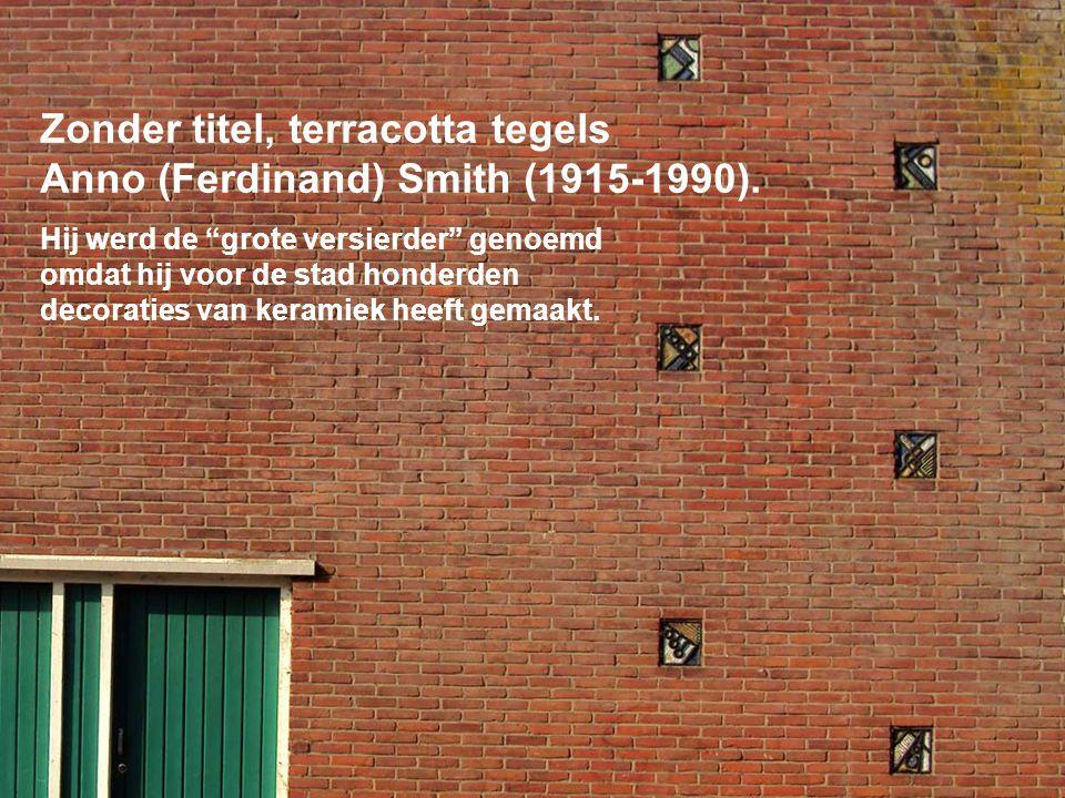 Zonder titel, terracotta tegels Anno (Ferdinand) Smith (1915-1990).
