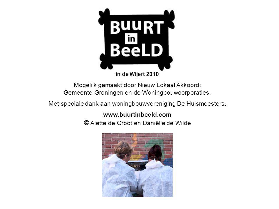 in de Wijert 2010 Mogelijk gemaakt door Nieuw Lokaal Akkoord: Gemeente Groningen en de Woningbouwcorporaties. Met speciale dank aan woningbouwverenigi
