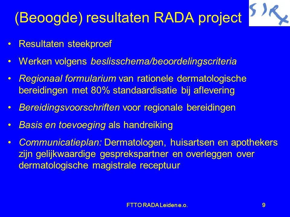 10 Beslisschema dermatologische apotheekbereiding Goedgekeurd door Klankbordgroep RADA project op 13 april 2003 Is een geregistreerd handelspreparaat beschikbaar.