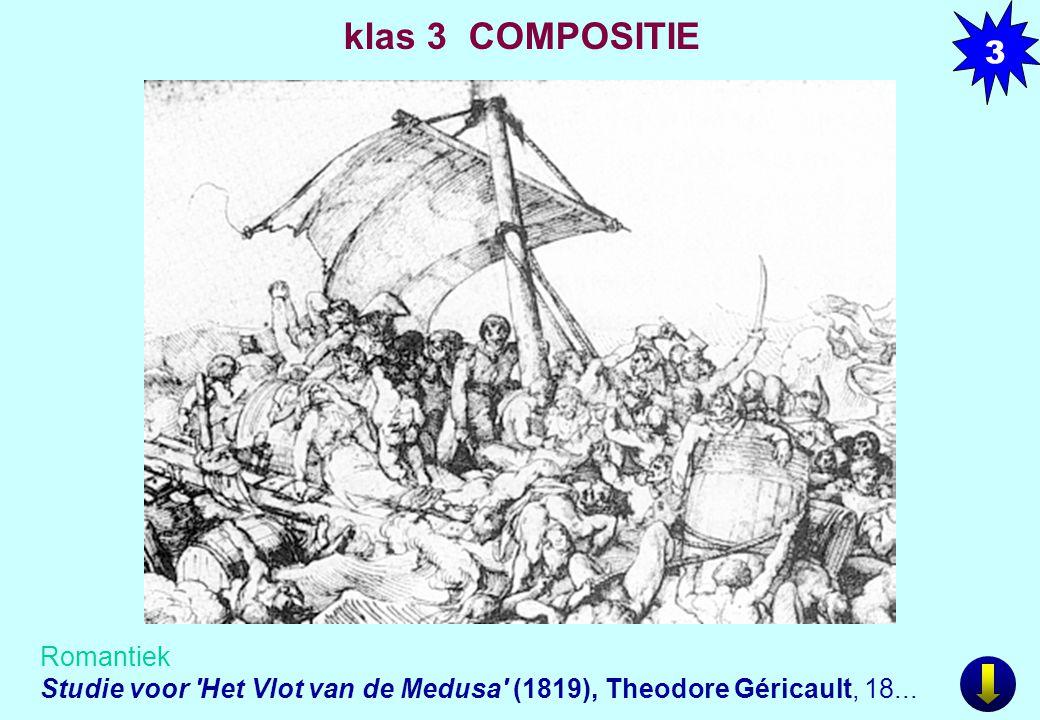 Romantiek Studie voor 'Het Vlot van de Medusa' (1819), Theodore Géricault, 18... 3 klas 3 COMPOSITIE