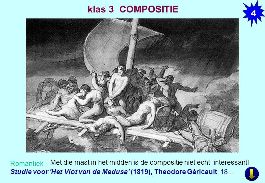 Romantiek Studie voor 'Het Vlot van de Medusa' (1819), Theodore Géricault, 18... Met die mast in het midden is de compositie niet echt interessant! 4