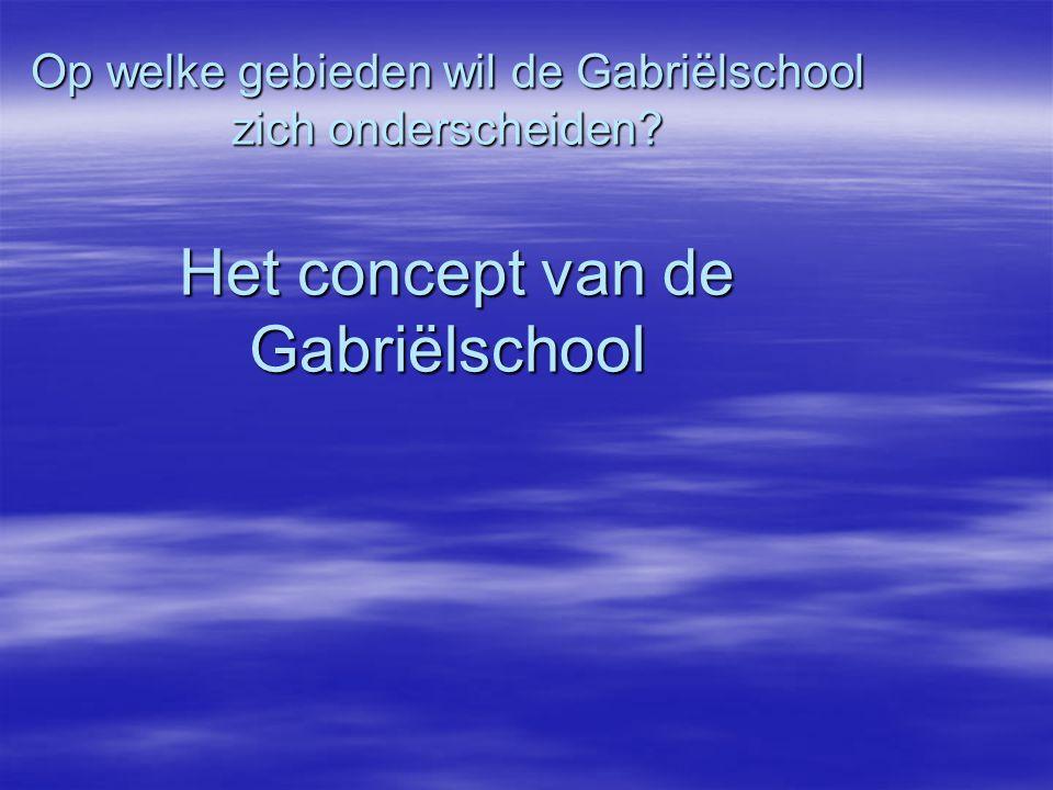 Op welke gebieden wil de Gabriëlschool zich onderscheiden? Het concept van de Gabriëlschool