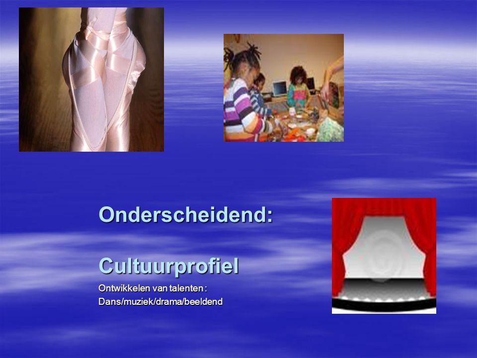 Onderscheidend: Cultuurprofiel Ontwikkelen van talenten : Dans/muziek/drama/beeldend