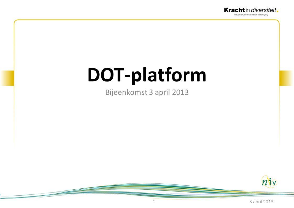 Agenda 1.Opening 2.Presentatie DBC-Onderhoud (Henriëtte Talma) over het normtijdenherallocatietraject 3.Tarieven 4.Veranderingen 2014 5.Voorstel aanpak normtijdenherallocatietraject NIV 6.Integrale bekostiging 2015: consequenties 7.Rondvraag 8.Sluiting 3 april 20132